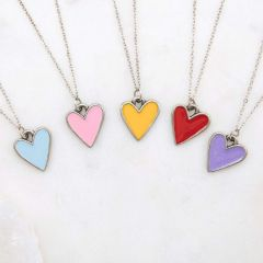 Brave Love® Heart Necklace {Pewter}