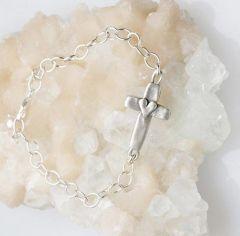cross of faith sterling silver bracelet