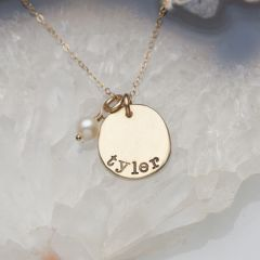 Petite Mother's Necklace {14K Gold}