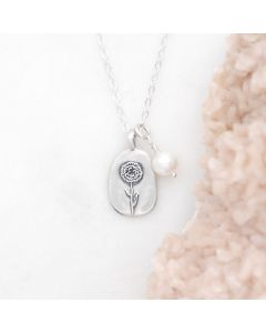 January Birth Flower Necklace {Sterling Silver}