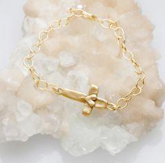Cross of Faith Bracelet {14k Gold}