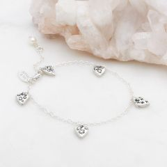 Light + Bright Hearts Bracelet {Sterling Silver}