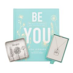 Be You Book, Necklace and Keepsake Dish Gift Set {Pewter}