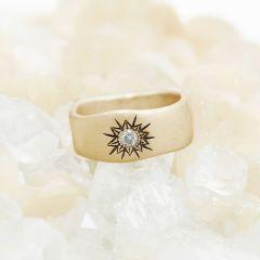 Sunburst Diamond Ring {14K Gold}