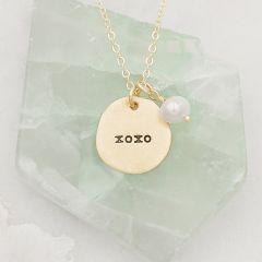 Beloved Name Disc Necklace {14k Gold}