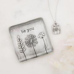 Be You Necklace and Keepsake Dish Gift Set {Pewter}