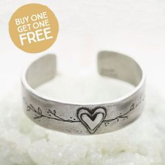 Let Love Grow Cuff {Pewter}