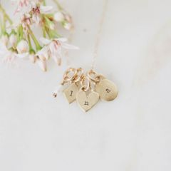 Wild About You Initials Necklace {14k gold}