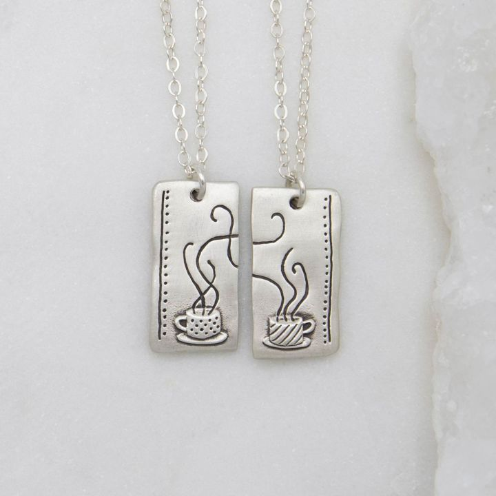 Coffee And Tea Necklace Set {Sterling Silver}