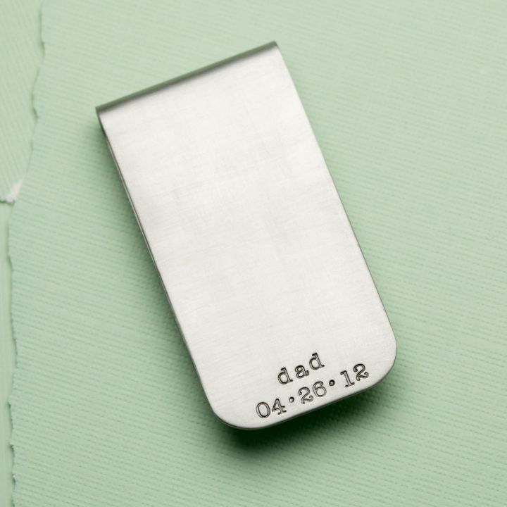 Dads Money Clip {Steel}