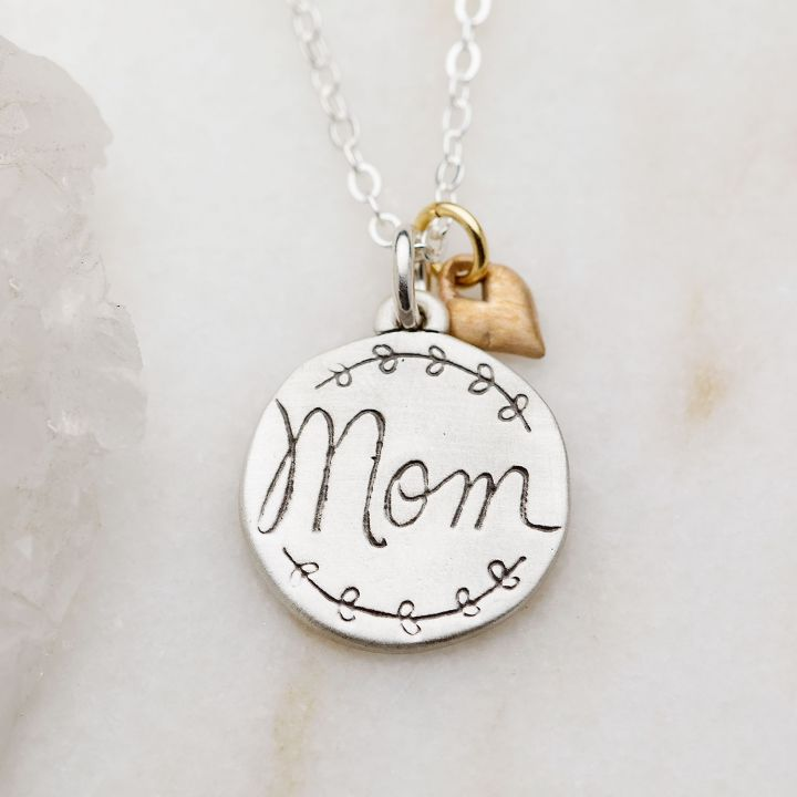 Heart To Heart Mom Necklace {Sterling Silver}