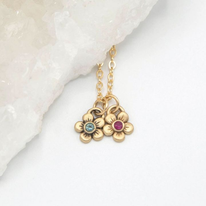 Birthstone Bloom Necklace {14k Gold}