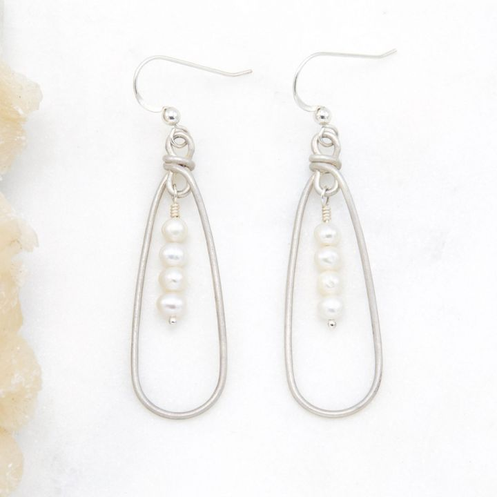 A Mother's Love Pearl Earrings {sterling silver}