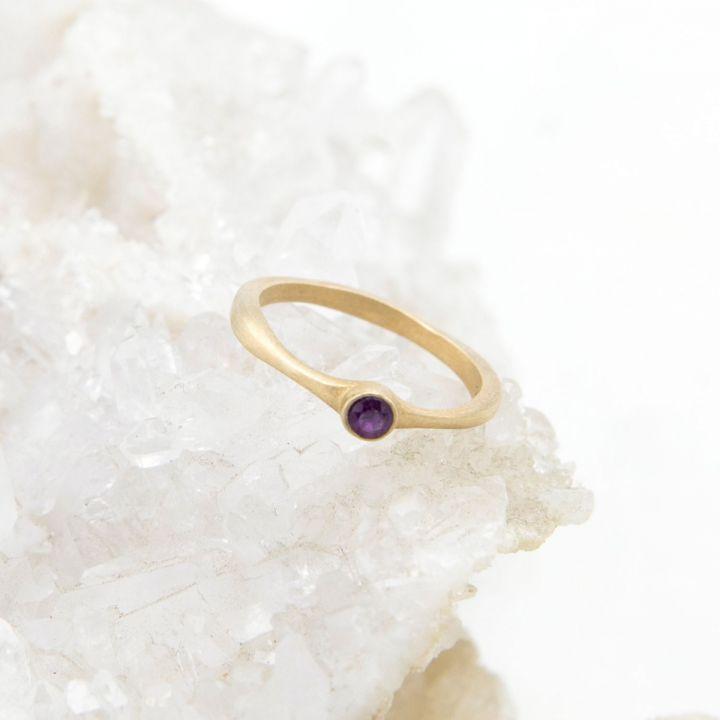 Bezel Birthstone Ring {10K Gold}