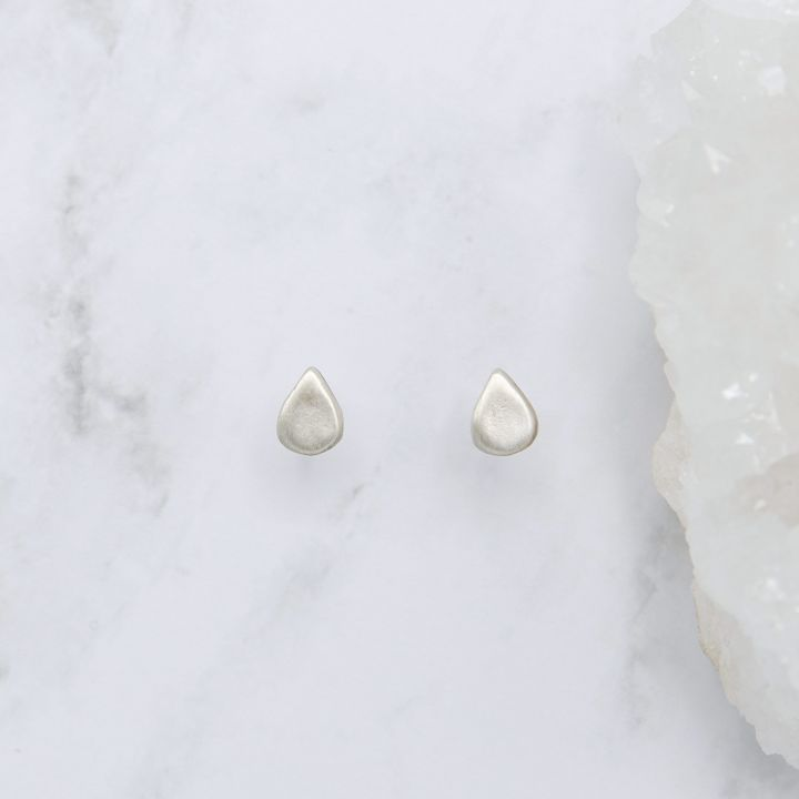 Raindrop Stud Earrings {Sterling Silver}