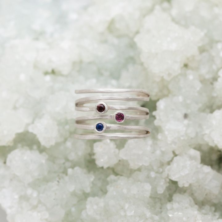 Always Together Birthstone Ring {Sterling Silver} - DISCONTINUED