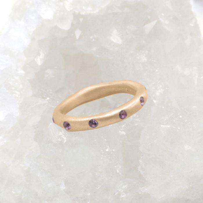 Birthstone Stacking Ring {10k Gold}