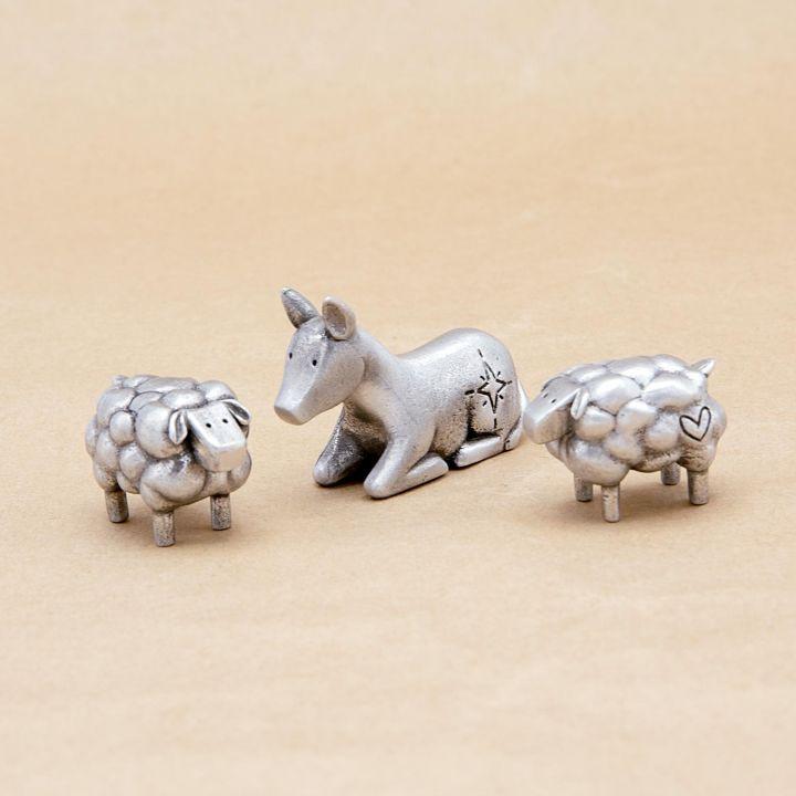 Extra Animal Nativity Figurine Set {pewter}