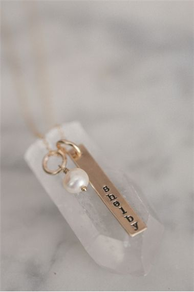 Gold Single Tag Necklace {Gold Plated}