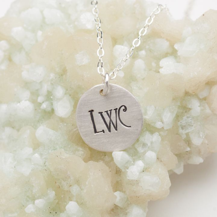 Petite Monogram Necklace {Sterling Silver}
