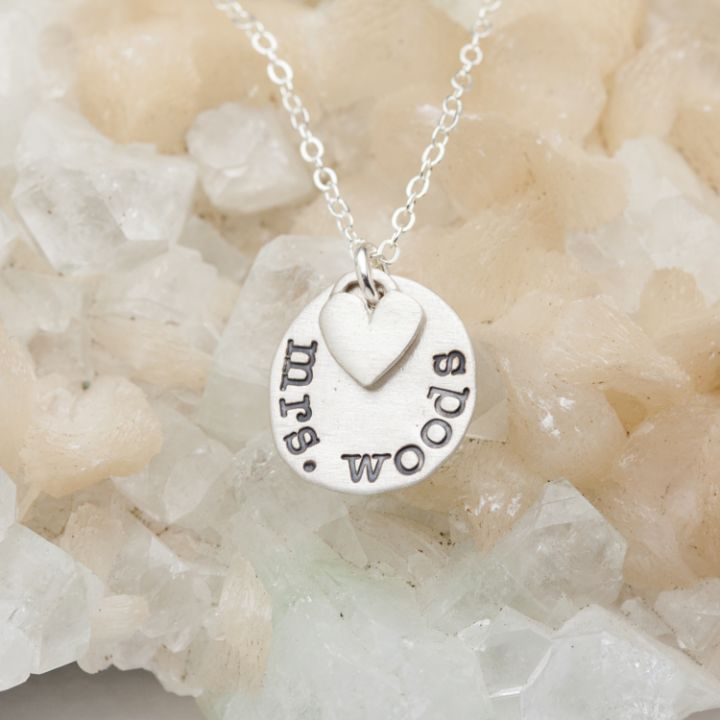 Learn and Love Teachers Necklace {Sterling Silver}