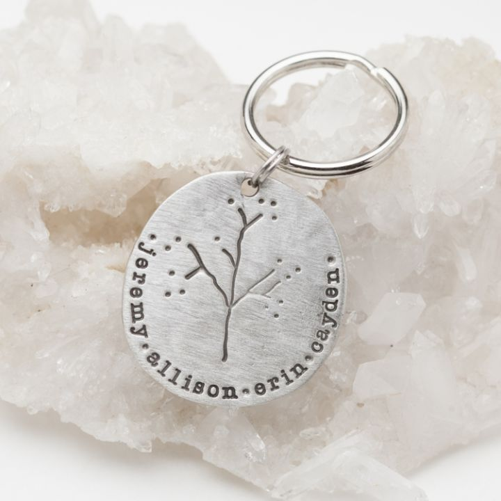 Family Tree Keychain {Pewter}