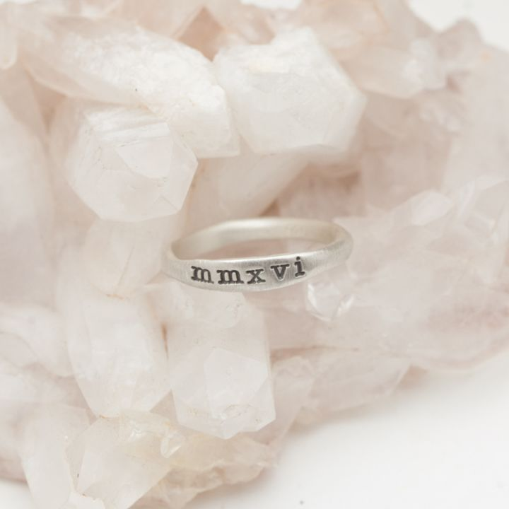 graduate ring {sterling silver}