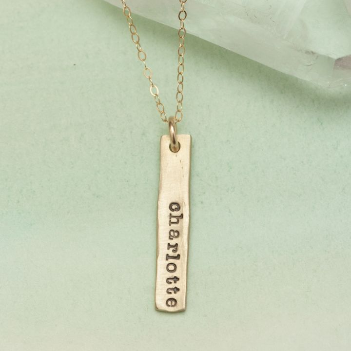 Single Tag Necklace {10K Gold}