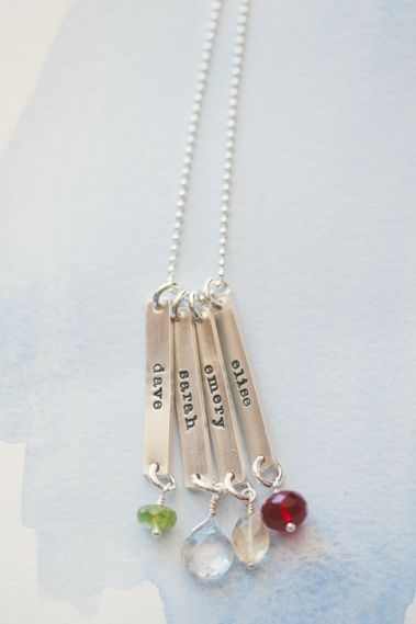 fresh cut birthstone necklace {sterling silver}