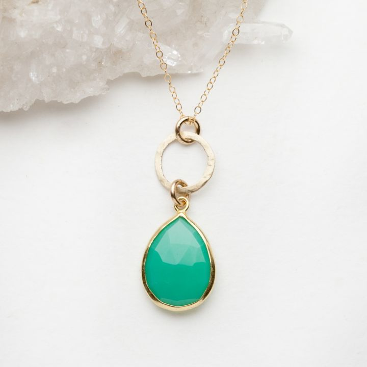 Cool Water Clear Sky Necklace {10k gold + filled}