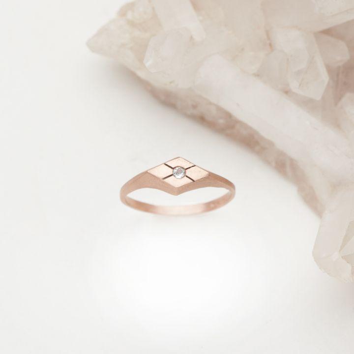 Adored Ring {10K Rose Gold}