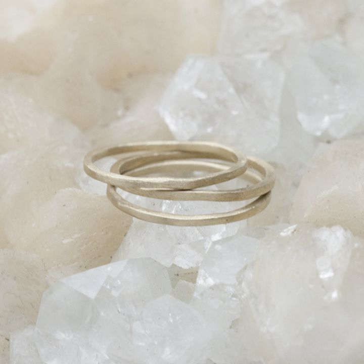 skinny stacking ring {10k gold}