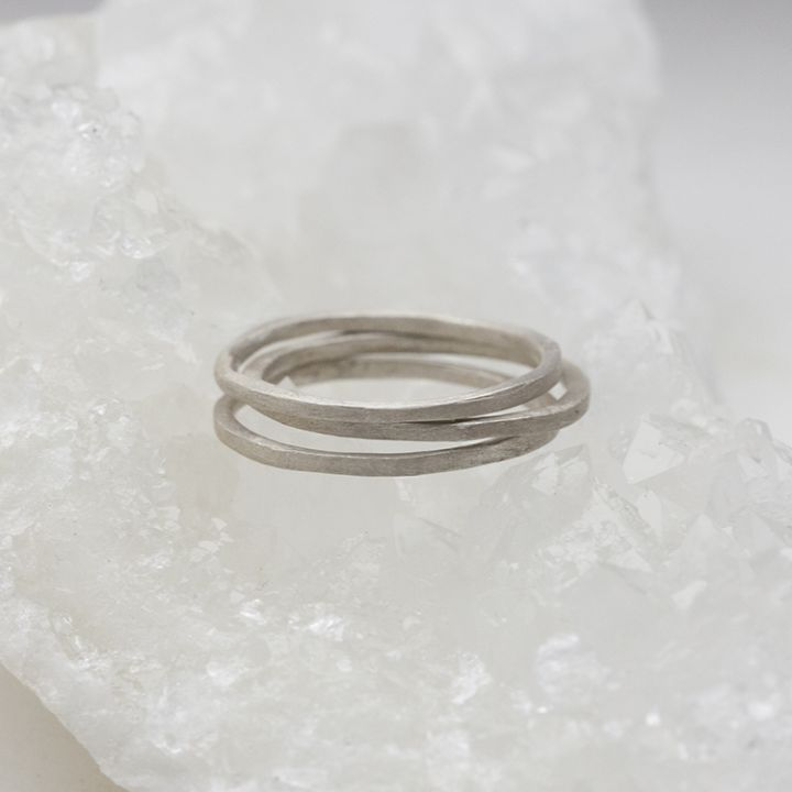 skinny stacking ring {sterling silver}