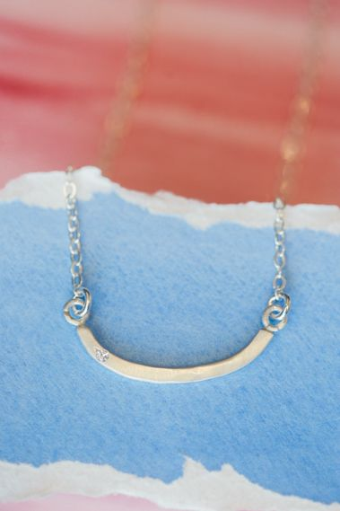 Half Full Necklace {Sterling Silver}