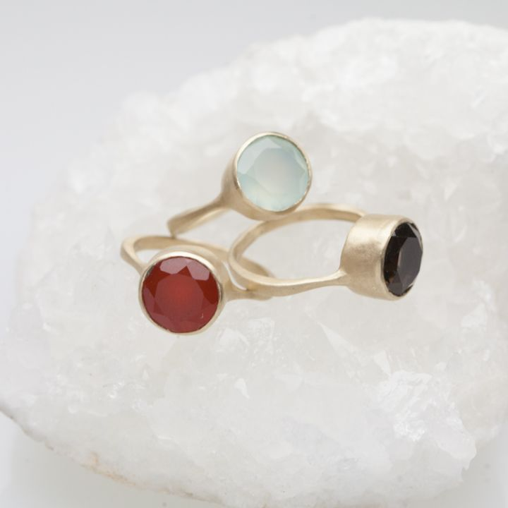 Large Gemstone Ring {10K Gold}
