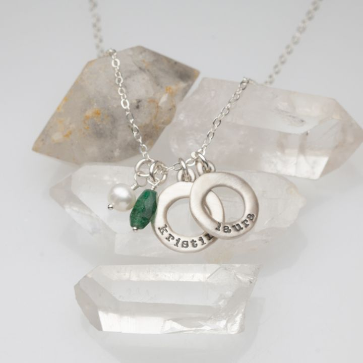 Mini Open Circle Necklace {Sterling Silver}