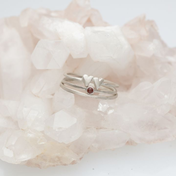 Enfold Ring Trio {Sterling Silver}