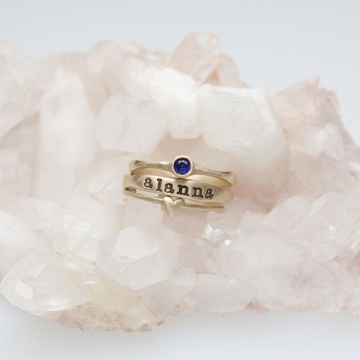 Darling Dear Ring Trio {10K Gold}