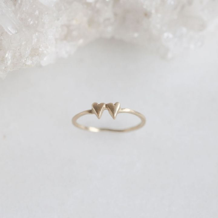 Sweet Love Ring - Two Hearts {14k Gold}