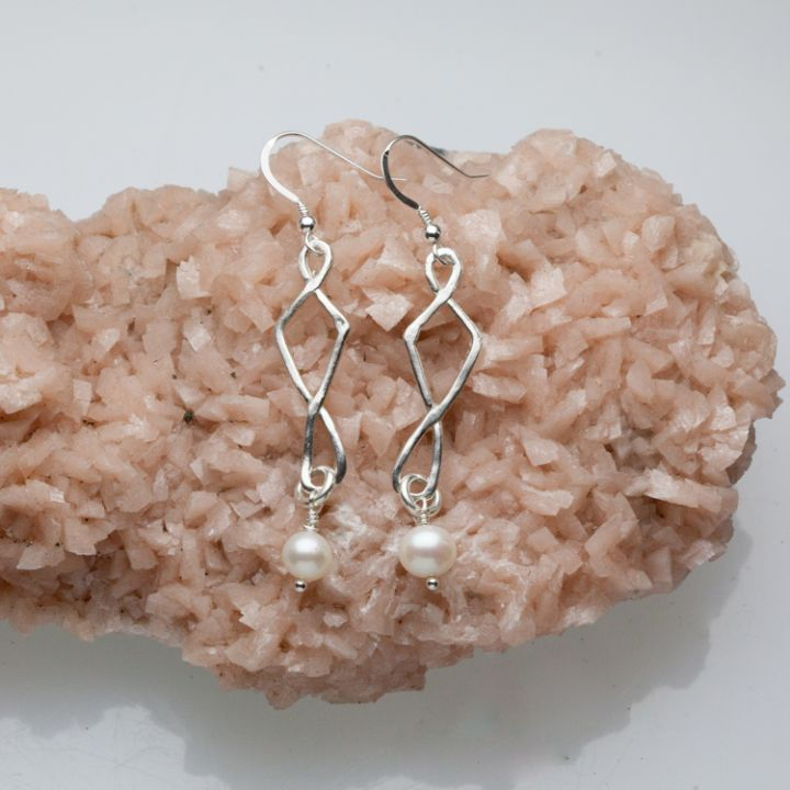 Twists And Turns Earrings {Sterling Silver}