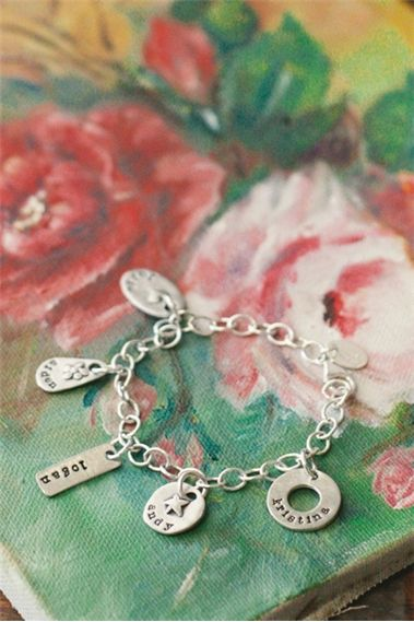 Jumble Of Charms Bracelet {Pewter}