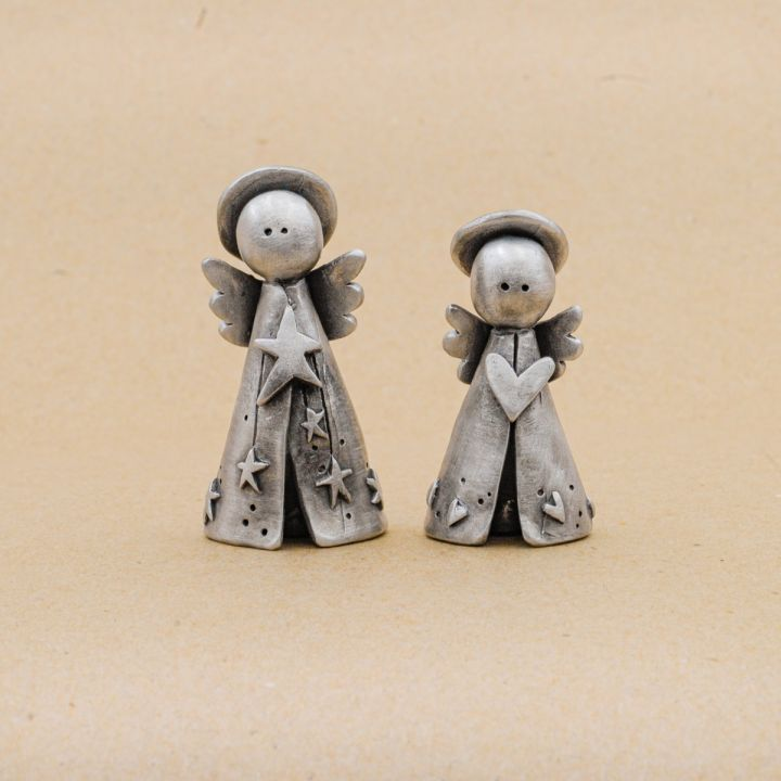 Angels on High Nativity Figurine Set {Pewter}
