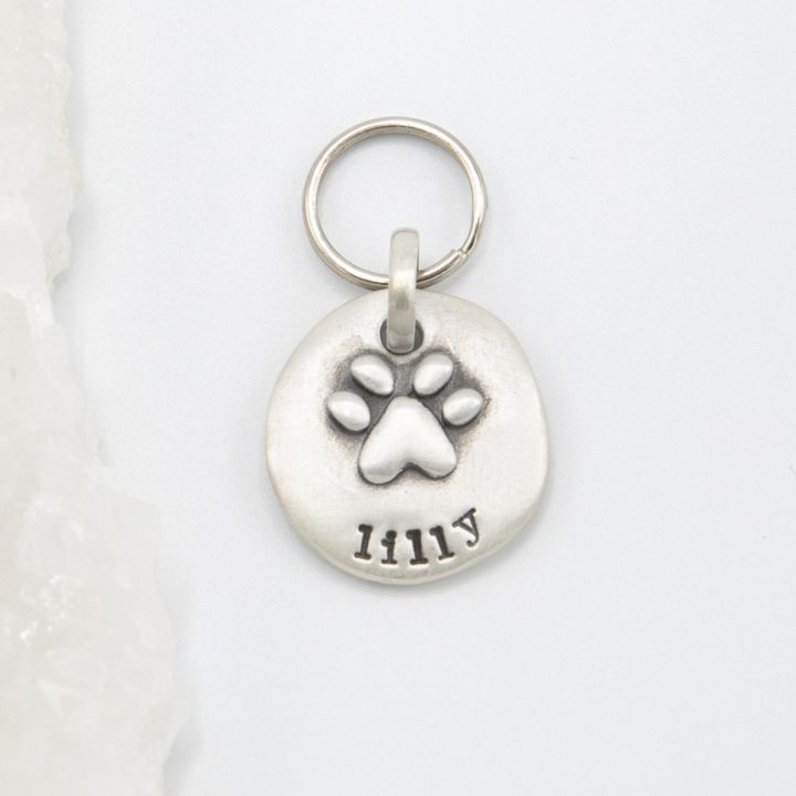 Furry Footprint Keychain {Sterling Silver}