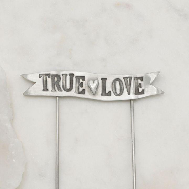 True Love Banner Cake Topper {Pewter}