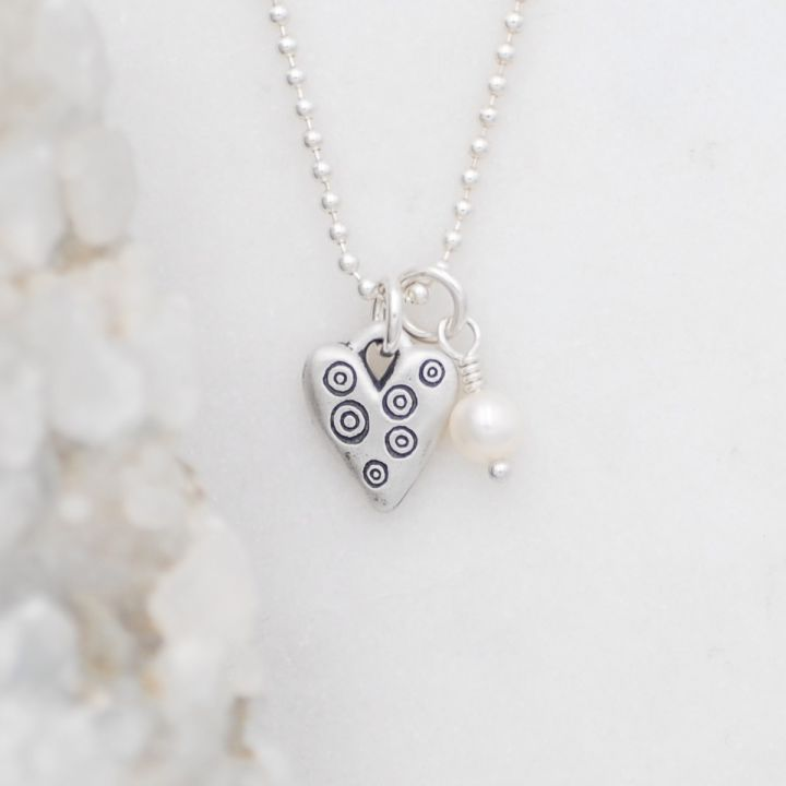 Light + Bright Hearts Necklace {Sterling Silver}