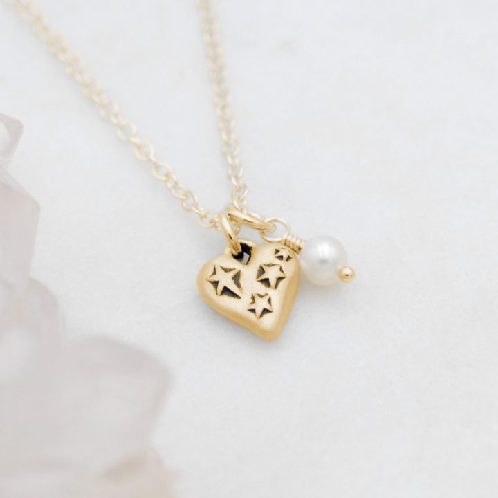 Light + Bright Hearts Necklace {14k Gold}