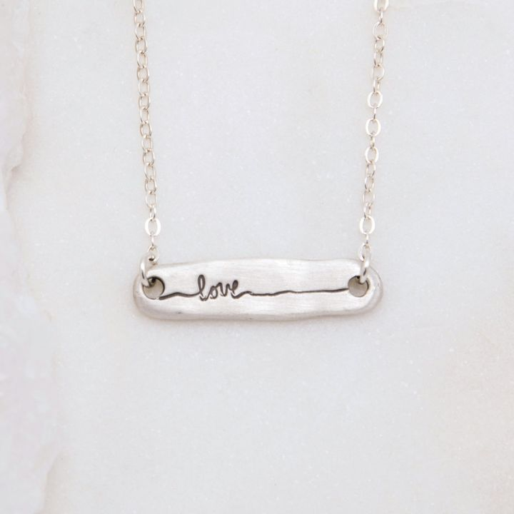 Written With Love Necklace {Sterling Silver}
