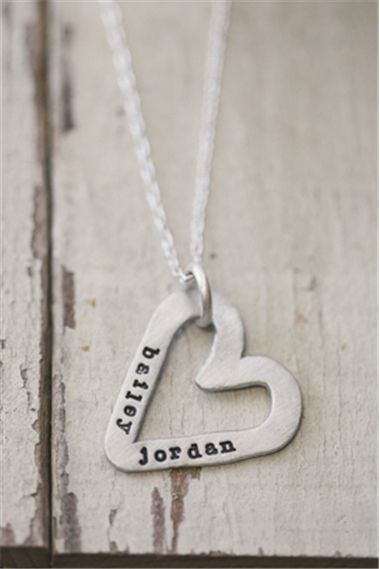 Molded Heart Necklace {Pewter}