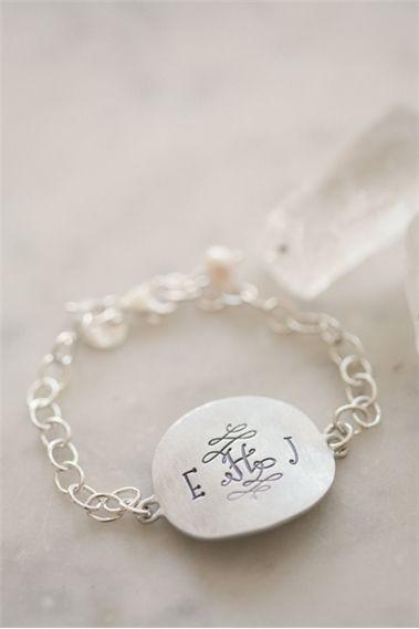Timeless Monogram Bracelet {Pewter}