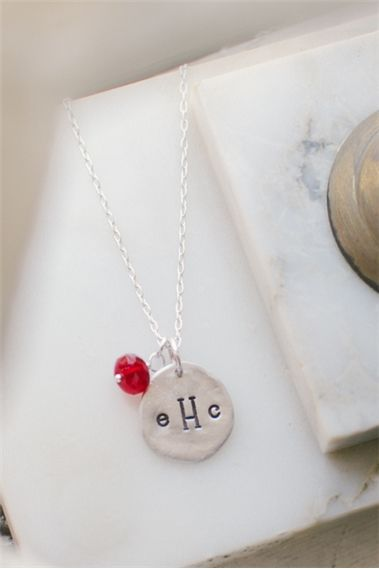 Little Lady Monogram Necklace {Pewter}